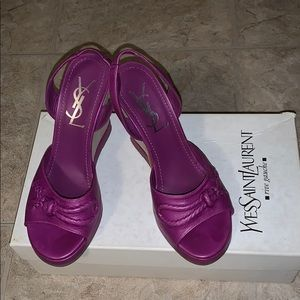 NEVER WORN YSL CHARMS SLINGBACK INDIAN ORCHIDEA